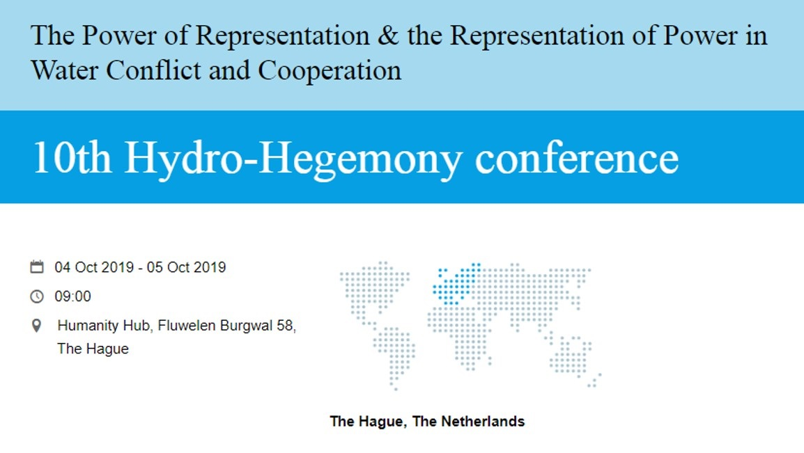 10th Hydro_Hegemony Conference in the Netherland