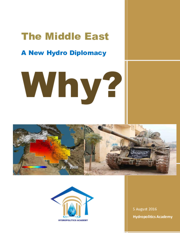The Middle East. A New Hydro Diplomacy ! Why