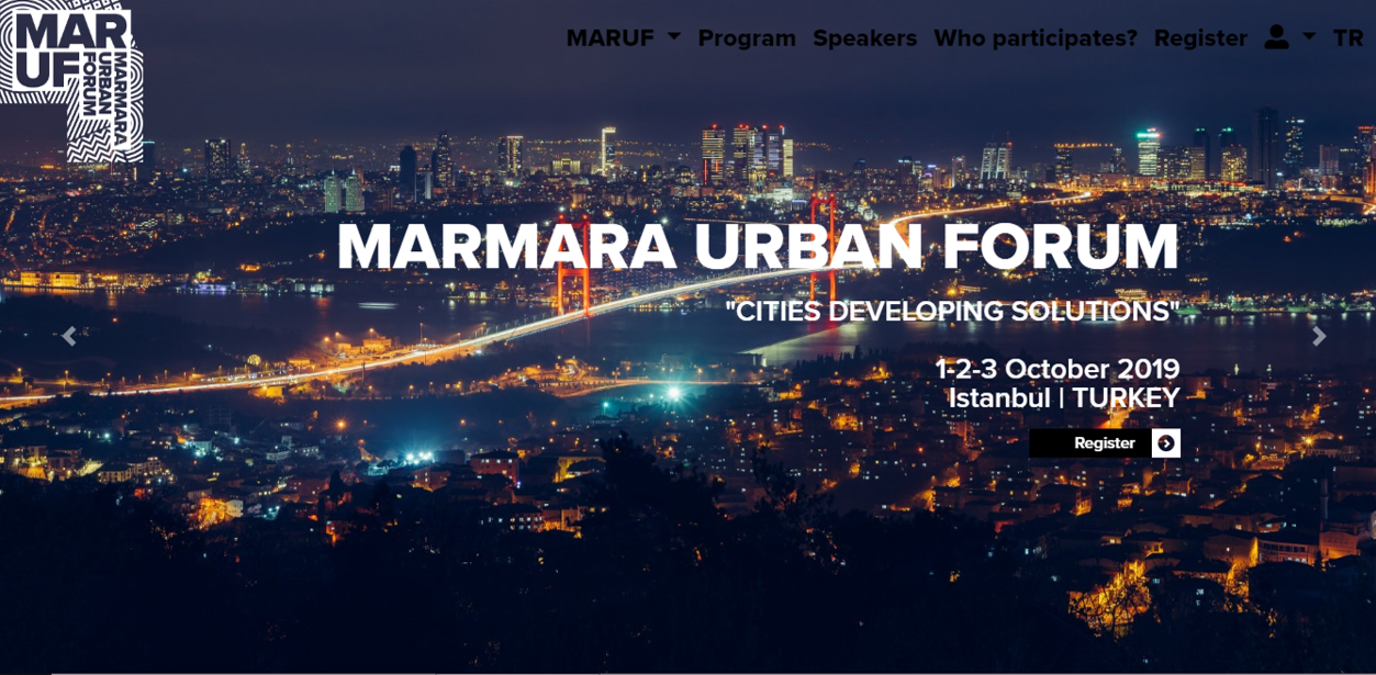 HPA will attend the MARMARA URBAN FORUM  will be held in Istanbul in 1_3 October 2019